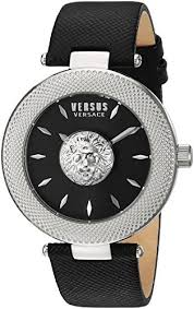 Versus by Versace Women's 'Brick Lane' Quartz Stainless Steel and Leather  Casual Watch, Color Black (Model: VSP212117): Buy Online at Best Price in  UAE - Amazon.ae