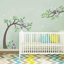 Amazon Com Decalmile Koala And Tree Branch Wall Decals Dragonflies Koala Bear Kids Wall Stickers Baby Nursery Childrens Bedroom Wall Decor Home Kitchen
