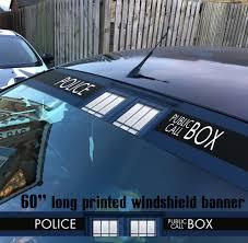 Buy 60 Doctor Police Box V2 Tardis Bigger Inside Dalek Sun Strip Printed Windshield Car Vinyl Sticker Decal