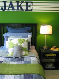 Boys Green Bedroom This Is My 8 Year Old Sons Bedroom Redo With Previous Post Help I Have Chosen The Bedding Af Boys Bedroom Green Boys Room Design Boy Room