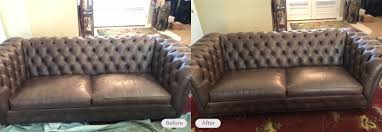 leather sofa restoration and re dye