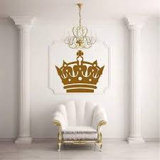 Amazon Com V Studios Wall Decal Sticker Design Crown Glans King Princess Living Room Modern I18 Home Kitchen