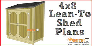 lean to shed plans 4x8 step by step