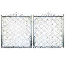 4 Ft H X 10 Ft W Galvanized Steel Chain Link Fence Gate In The Chain Link Fence Gates Department At Lowes Com