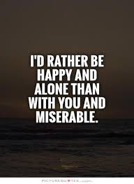 happy alone quotes quotesgram