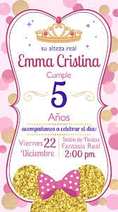 Tarjeta De Invitacion Animada De Princesa Minnie Video Video