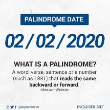 INQUIRER.net - Today is Palindrome date! Palindrome days...