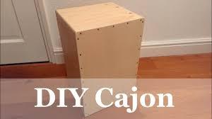 diy handmade cajon you