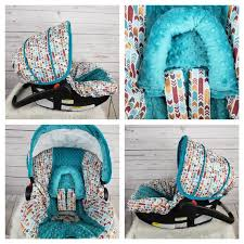 arrows with teal car seat cover set