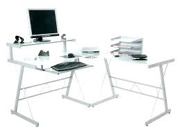 l shaped glass computer desk
