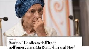 Emma Bonino a Repubblica: