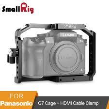 SmallRig G7 Lồng cho Panasonic Lumix Dmc DMC G7 Máy Ảnh Cage với Cáp HDMI  Kẹp + Lạnh Giày + Núi Nato Đường Sắt 1779|smallrig