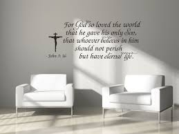 For God So Loved The World Eternal Life John 3 16 Bible Wall Decal Sticker
