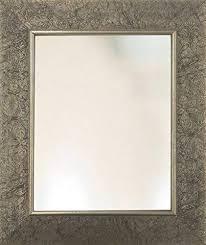 fl etching pattern framed mirror