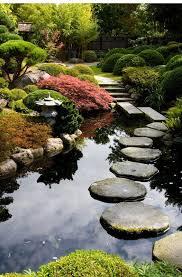 zen garden path over a pond portland