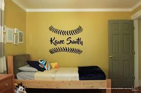 Custom Name Baseball Vinyl Wall Sticker Wall Art Sticker Etsy