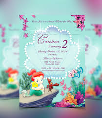 The Little Mermaid Invitation Invitaciones Digitales