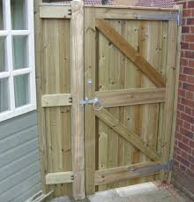 Reverse Of Glemham Gate And Side Panel Wooden Garden Gate Backyard Gates Wood Gate
