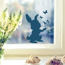 Window Mural Wall Decal Bunny Rabbit With Butterflies M1857 Wall Decals Bumper Sticker Murals Bags Cups Backpacks And Many More At Www Deinewandkunst Com