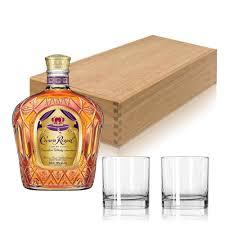 crown royal canadian whiskey gift set