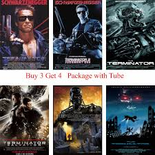 The Terminator Posters White Coated Paper Prints Wall Stickers Home Decoration For Livingroom Bderoom Home Art Brand Stickers Home Decor Wall Stickers Home Decorhome Decor Aliexpress