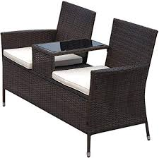 seat rattan wicker chair bench