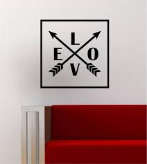 Love Arrows Simple Square Design Quote Wall Decal Sticker Vinyl Art Ho Boop Decals