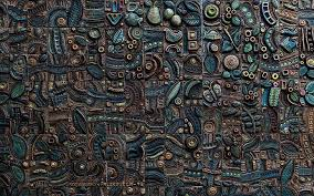hd wallpaper blue and brown abstract