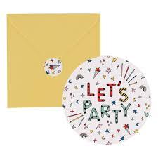 Tarjetas De Invitacion Happy Birthday Lote De 8 My Little Day
