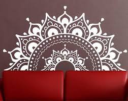 Mandala Wall Decal Mandala Decal Yoga Om Namaste Yoga Decor Etsy Mandala Wall Art Mandala Decals Yoga Decor