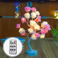 Đèn Led Hoa Hồng Hoa Cây Hình Cổng USB Và Chạy Bằng Pin Điều Khiển Từ Đèn  Led Trang Trí Bàn Đèn Bên, quà Giáng, Đám Cưới|