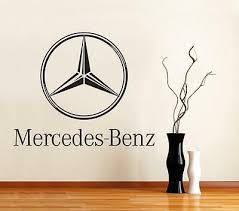 Mercedes Benz Logo Car Decal Removable Wall Sticker Graphic Home Decor Art St117 Ebay