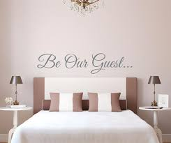 Be Our Guest Wall Decal Sticker Etsy