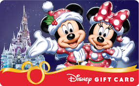 holiday themed disney gift card designs