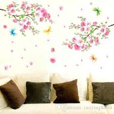 Cherry Blossom Decals Large Flower Butterfly Tree Nail Art Decal Wall Stickers Home Decor Fashion Floral L Sutanrajaamurang