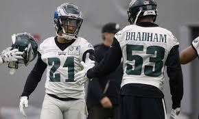 Nigel Bradham has started serving his one-game suspension