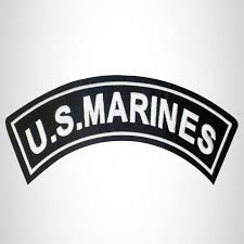 U S Marines Iron On Top Rocker Patch Sew On For Biker Vest Jacket Sturgis Midwest Inc
