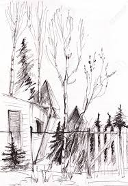 Instant Sketch Fence And Gate Black And White Stock Photo Picture And Royalty Free Image Image 64429705