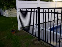 Yorkville Ny Fulton Fence Pool Project Success Poly Enterprises Fencing Decking Railing
