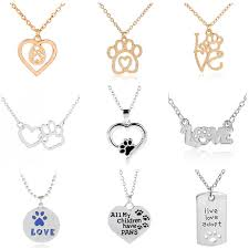 women cute necklace heart