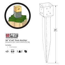 Oz Post T6 700 6x6 Wood Post Anchors For Oz Deck Plates