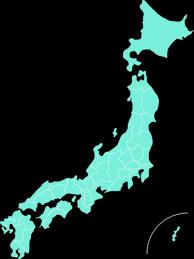 日本の青い地図 | パブリックドメインのベクトル