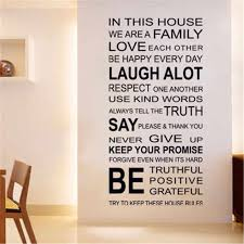 English Proverbs House Rule Wall Stickers Decor Quotes Wall Sticker For Kids Room Living Room Family House Rules Wall Decal Wall Stickers Aliexpress