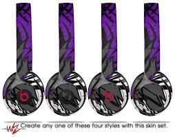 Wraptorskinz Skin Decal Wrap For Beats Solo 2 And Solo 3 Wireless Headphones Baja 0040 Purple Beats Not Included Walmart Com Walmart Com