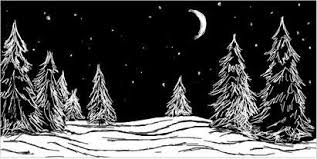 """Картинки по запросу """"ночь рисунок простым карандашом"""""""