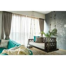 living room teak wood sofa swing for