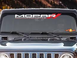 Product Mopar Motorsport Windshield Vinyl Decal Sticker