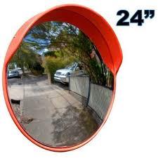traffic drive convex mirror