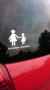 Car Sticker Disability Awareness Car Decal Invisible Etsy