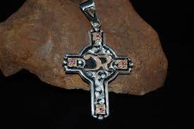 custom ranch brand cross pendant